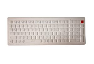 2.4Ghz wireless keyboard with colorful keys for medical, antibacterial and ergonomic