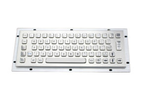 64 keys military metal keyboard with embedded panel mounting holes on portable PC