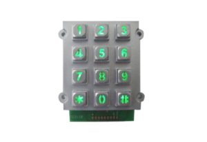 Colorful backlight die casting numeric keypad with dot matrix