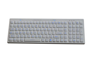 dishwasher safe medical keyboard with LED backlight with 0.3m shorten USB cable