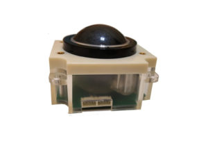 Harden resin black white 50.mm trackball module pointing device for marine military