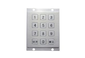 Four holes mounting numeric keypad with 3 x4 12 keys
