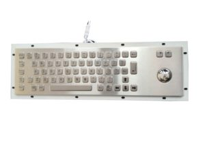 Trackball industrial keyboard with stainless steel metal 64 keys