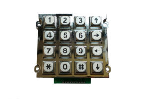 16 keys die casting numeric keypad, dot matrix numeric keypad with white night light
