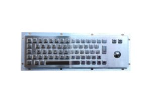 25.mm optical trackball IP65 metallic industrial keyboard with mounting holes
