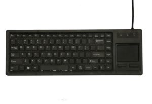 89 keys cost-effective plastic industrial keyboard with touchpad and X structure