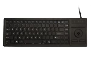 89-key PC peripheral X-structure industrial ABS keyboard with 12.mm trackball