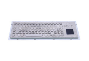 90 keys panel mounting metal industrial keyboard with touchpad and FN keys