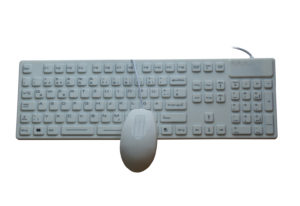 IP68 waterproof silicone rubber medical keyboard with OEM logo and nano antibacterial