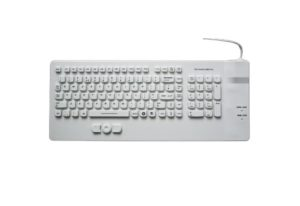 CE, FCC, ROHS quality silicone keyboard with hula mouse buttons for medical, industrial, military