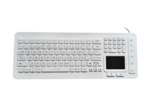 Spanish OEM medical industrial keyboard with touchpad for medical gloves use