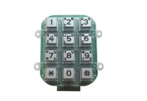 zinc alloy dot matrix keypad with 12 keys and backlight for door phone, access control, pay phone