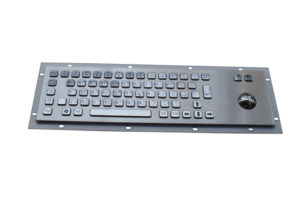 Braille industrial trackball keyboard