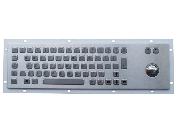 P-392TB-BD trackball industrial keyboard with dots – PAC TECHNOLOGY