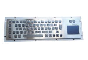 industrial keyboard with logo