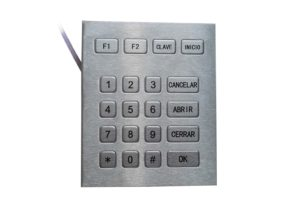 20 keys Spanish numeric keypad with TTL interface by stainless steel IP65