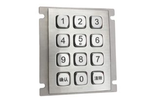 Panel mount USB computer IP65 numeric keypad with 12 keys for vending machine