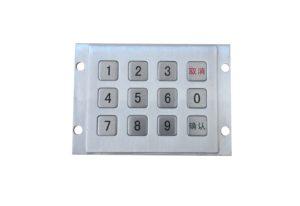 4 x3 horizontal numeric keypad