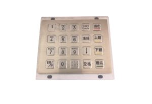 20 keys industrial numeric keypad with flat buttons IP65 protection