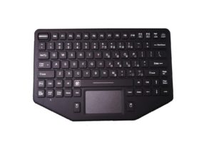 88 keys panel mount military keyboard by silicone with trackpad for policy vehicle