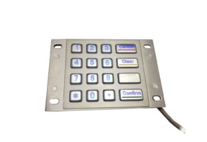 Energy saving LED industry stainless steel numeric keypad with 16 buttons