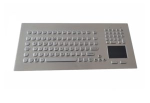 Oval mini buttons industrial keyboard with 104keys and touchpad for industry