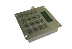 LCD display numeric keypad with 16 keys and special symbols