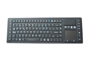 IP65 waterproof industrial keyboard with touchpad mouse & multimedia keys