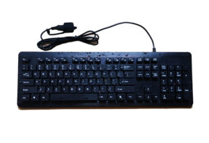 real waterproof antimicrobial plastic keyboard for medical pc system